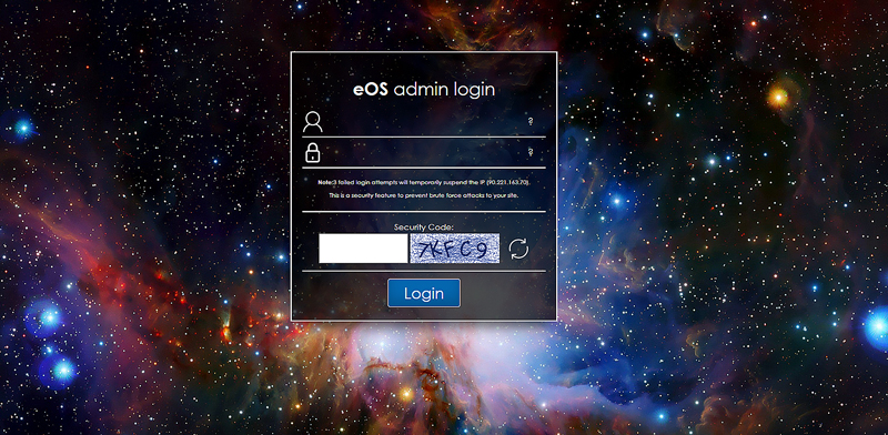 EOS Login Page