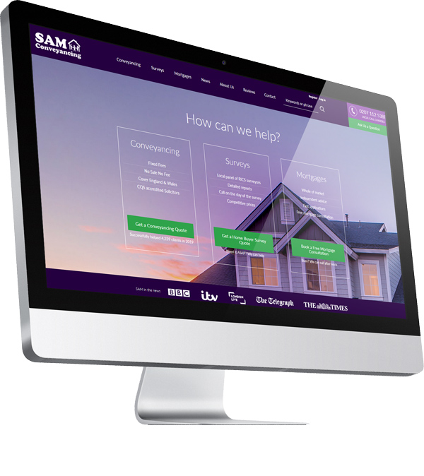 SAM Conveyancing Website | Watman Worth Web